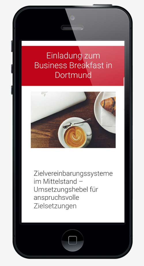 email newsletter marketing trier projekt #03 smartphone