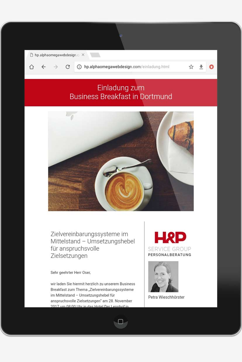 email newsletter marketing trier projekt #03 tablet
